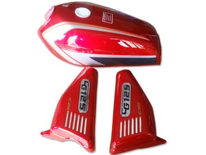 Image of Cafe Racer Honda CG125 Fuel Tank/ Gas Tank Cover Set 2