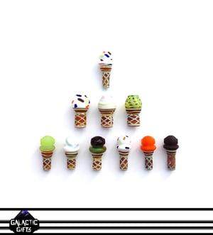 Image of Chad G Bubble Gum Swirl Ice Cream Cone Pendant