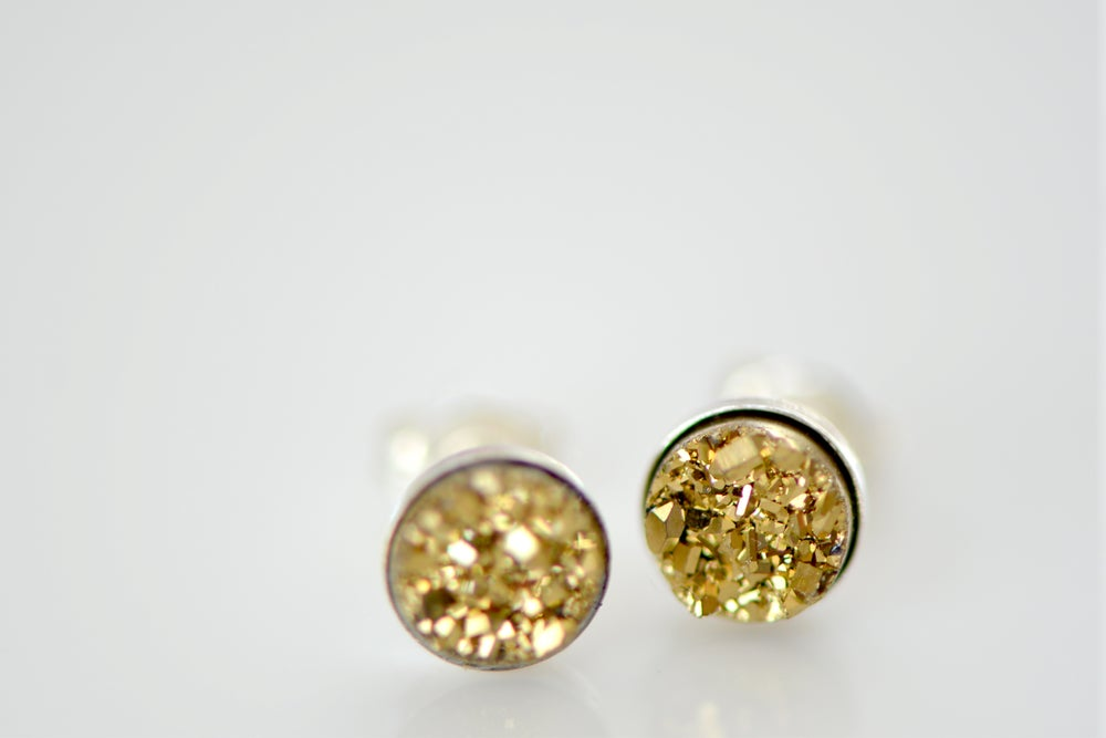 Image of Gold Druzy Studs in 6mm