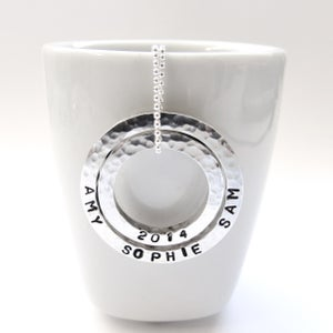 Image of Silver Personalised Words Necklace