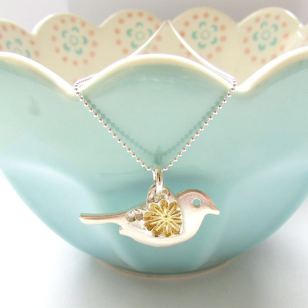 tree kissing avec the bird family birthday love branch birds necklace dainty on gold products