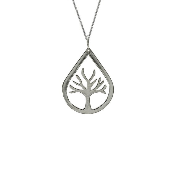 Image of Tree Necklace Teardrop Small