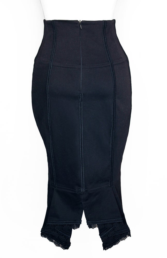 Image of Black High Waist Pencil Skirt