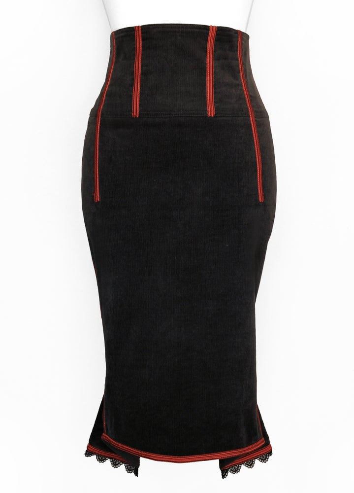 Image of Gun Smoke High Waist Pencil Skirt