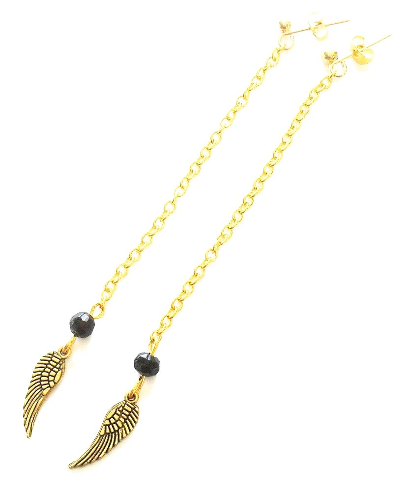 Image of Hanging Angel Wing Earring