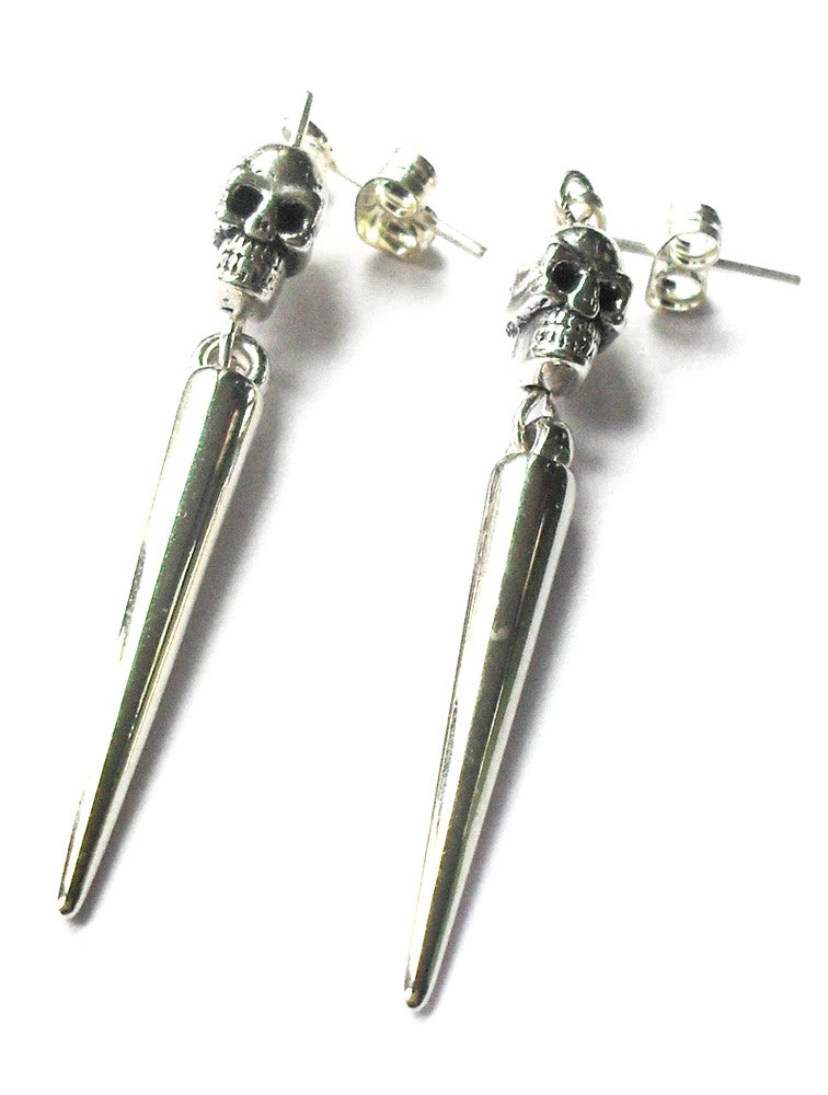 Image of Skull Spike Earrings