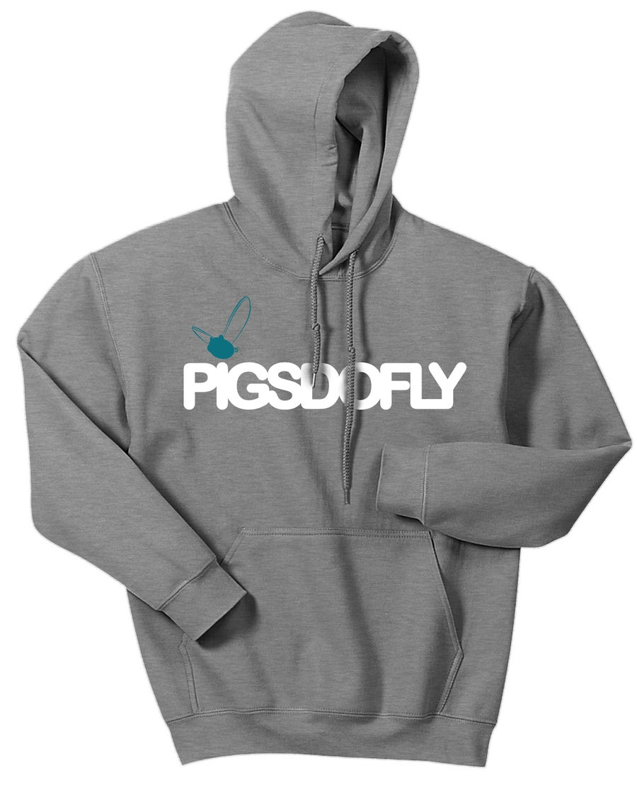"Image of ""PIGSDOFLY SJS"" SPORTS GREY/HOODY"