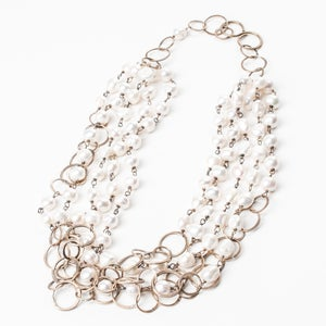 Image of 5-Strand Pearl Chunky Necklace