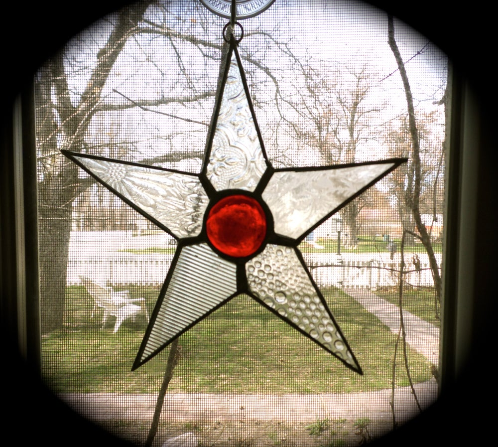 Image of Mini Lucky Star-stained glass