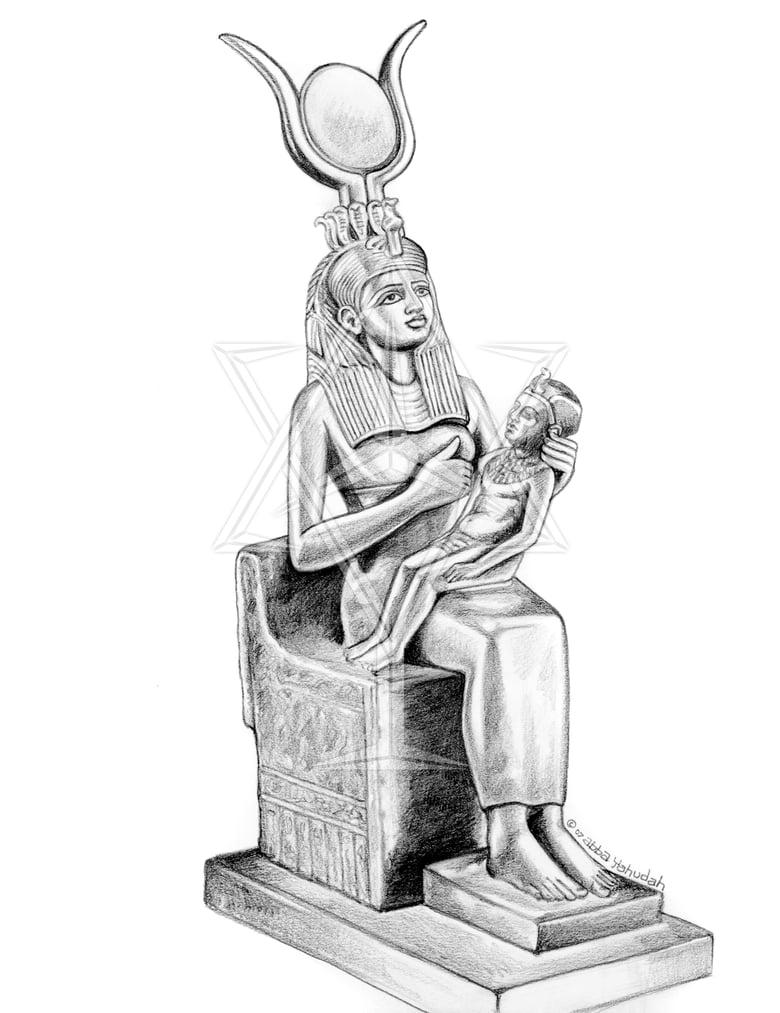 Image of Nursing Goddess Isis ©2007