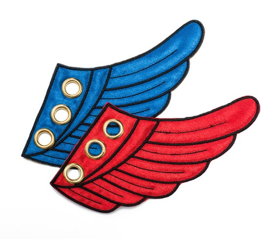 Image of Red & Blue Wing Kicks