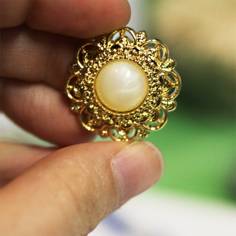 Image of Gold Filigree Pearl Plugs (sizes 2g-7/8)