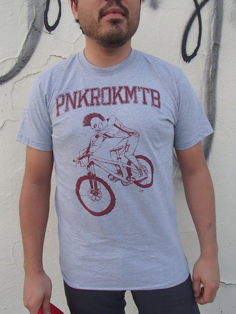 Image of PNK ROK MTB Jersey Grey