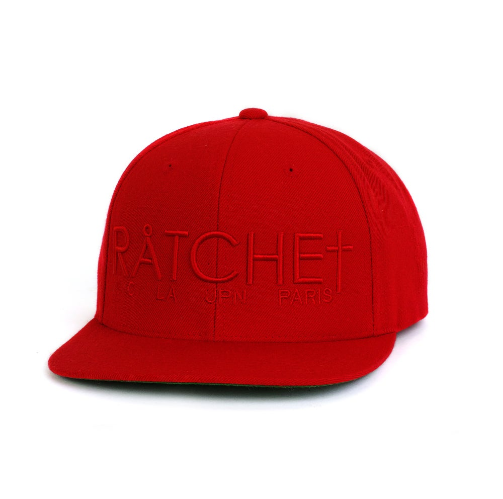Image of Red Ratchet Snapback