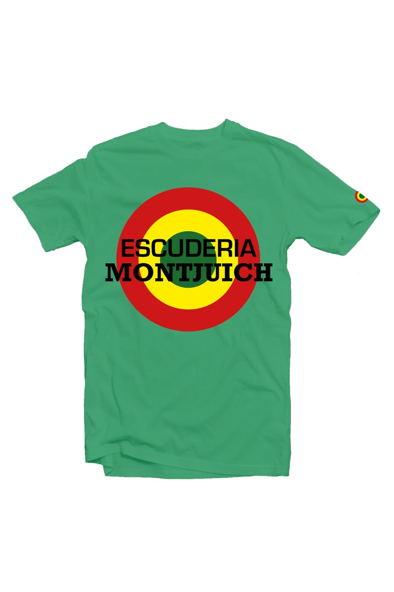 "Image of ESCUDERIA MONTJUICH TSHIRT ""TARGET GREEN"""