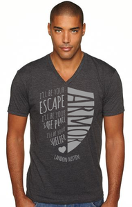 Image of Official Armor T-Shirt (Charcoal Gray Shield)