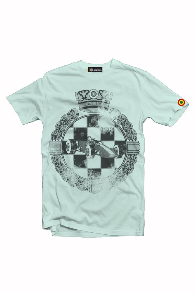 "Image of ESCUDERIA MONTJUICH TSHIRT ""WASTED EMBLEM BLUE"""
