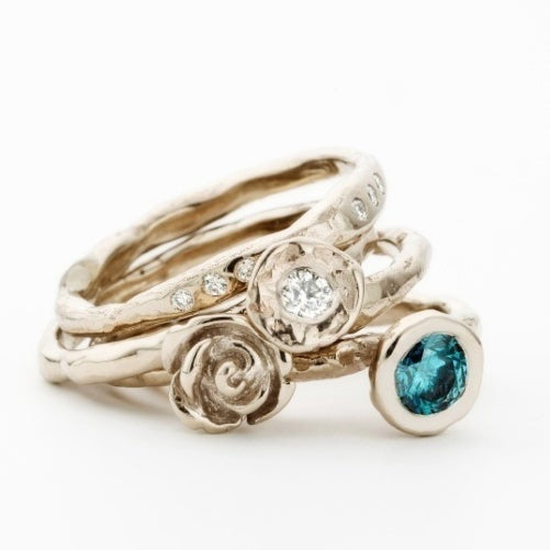 Beeld van Stacking Ring Blue diamond
