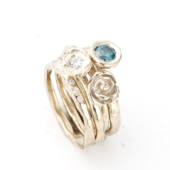 Beeld van Stack Ring Blauwe diamant