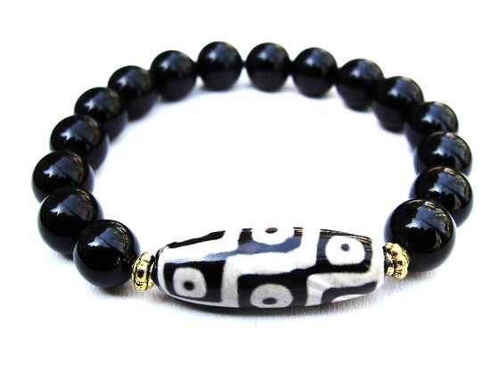 Image Of Boybeads For The Hunger Project Men S 10mm Black Onyx African Bead