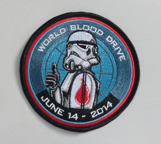 """Image of 2014 World Blood Drive Patch 3.5"""""""