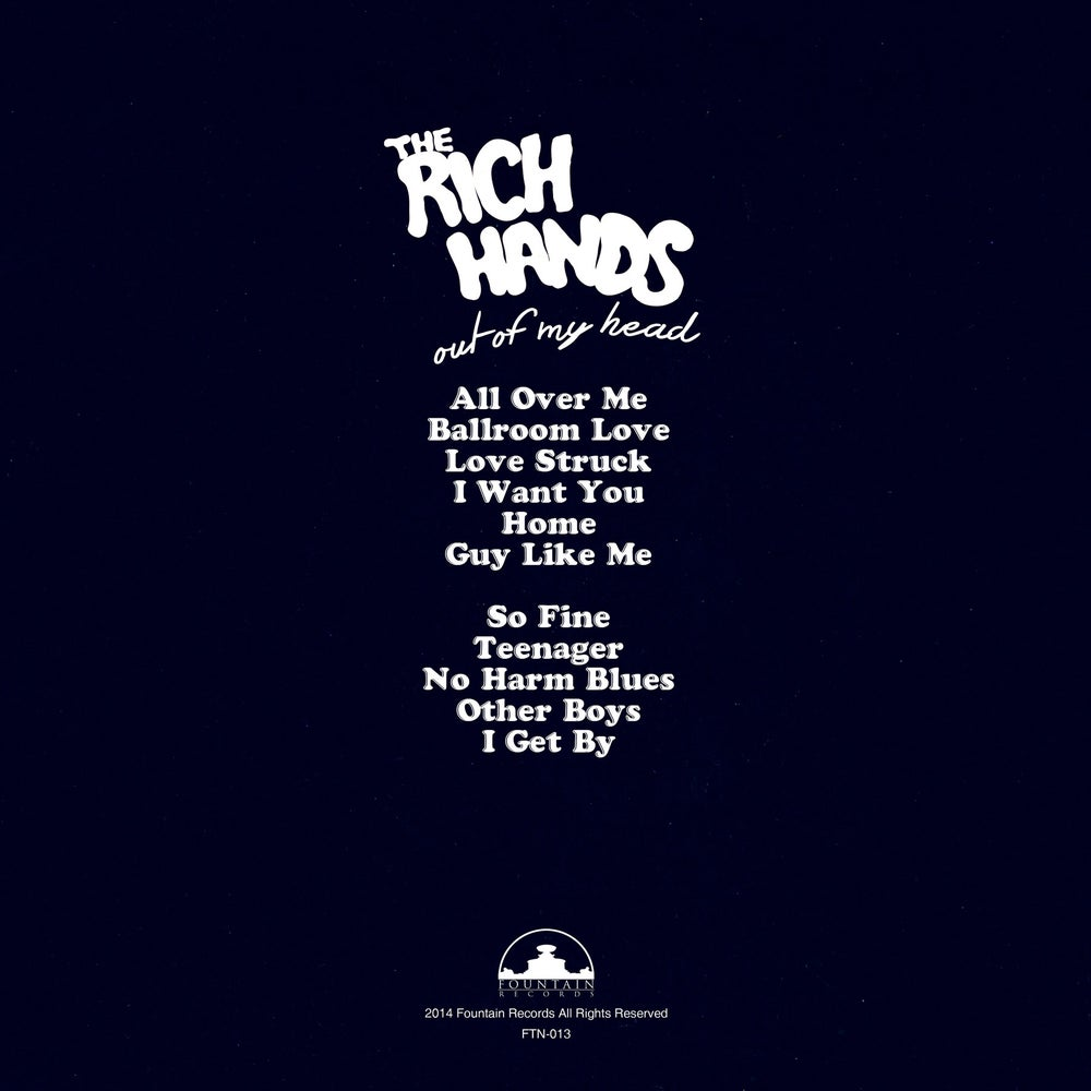 Image of FTN-013 - The Rich Hands - Out of My Head (CD)
