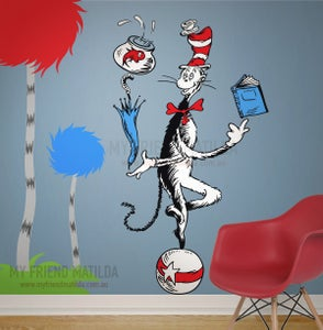 Image of Cat Juggling on a ball - Dr Seuss Character