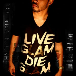 Image of LIVE GLAM DIE GLAM (V-NECK)