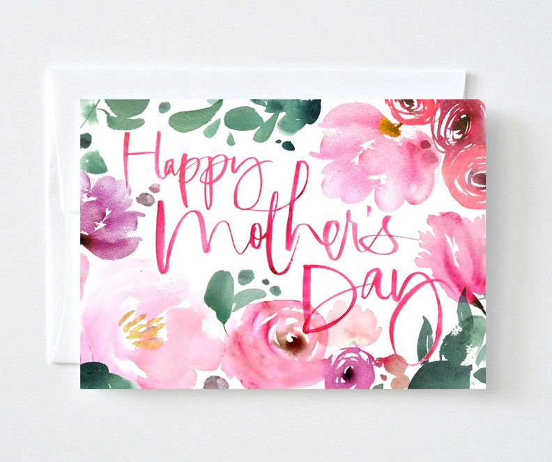 Image of Floral Watercolor Mother's Day Card