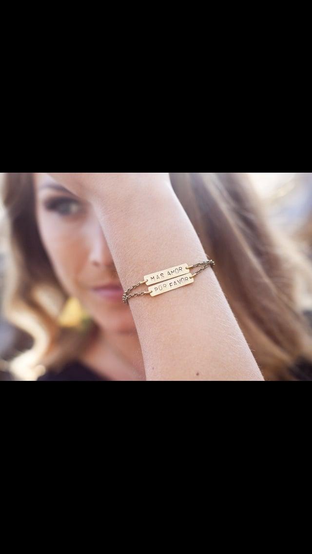 Image of MAS AMOR POR FAVOR bracelet//