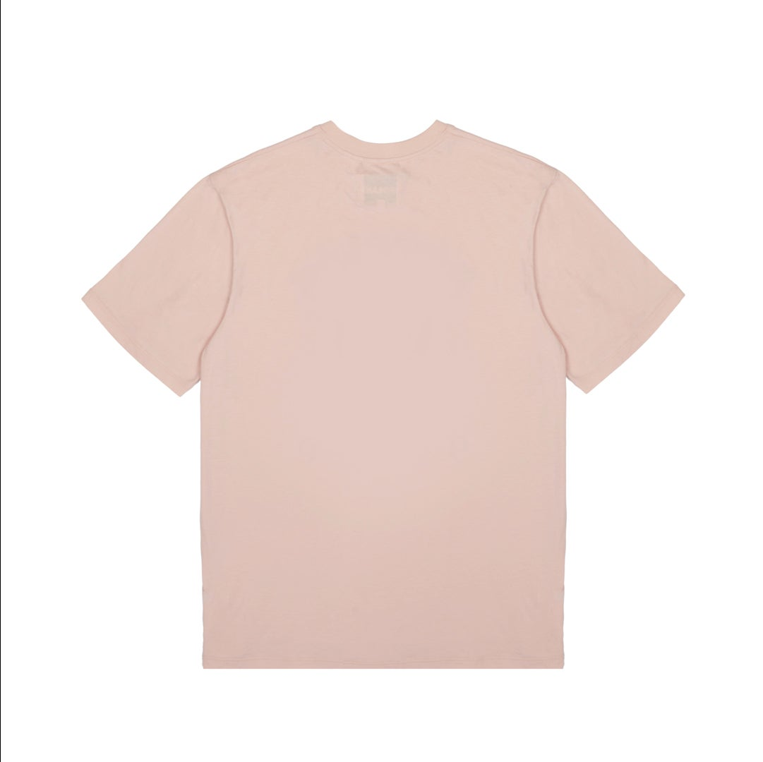 Image of Psychic 9-5 Club T-shirt - Peach with Black Print