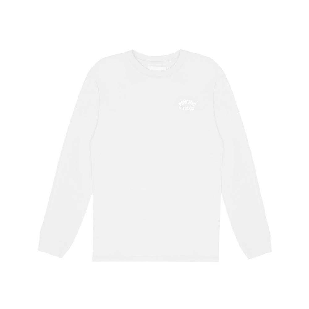 Image of Psychic 9-5 Club L/S T-shirt - White on White