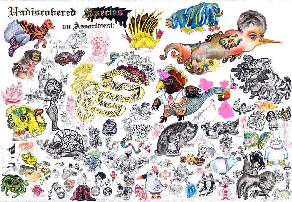 "Image of ""Undiscovered Creatures:  an Assortment"" archival digital print"