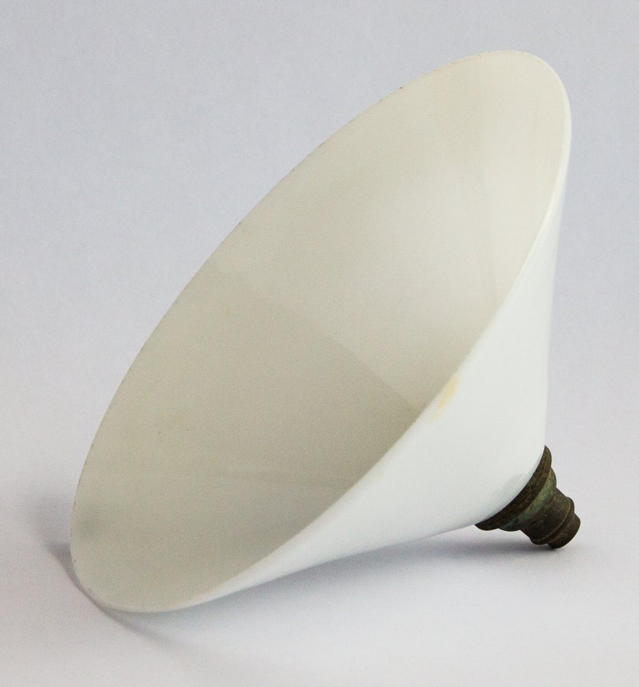 Image of Victorian White Milk Glass Hat Light Shade