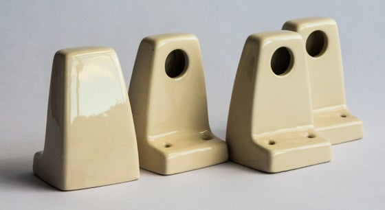 Image of Ceramic Vintage Towel Rail Holders