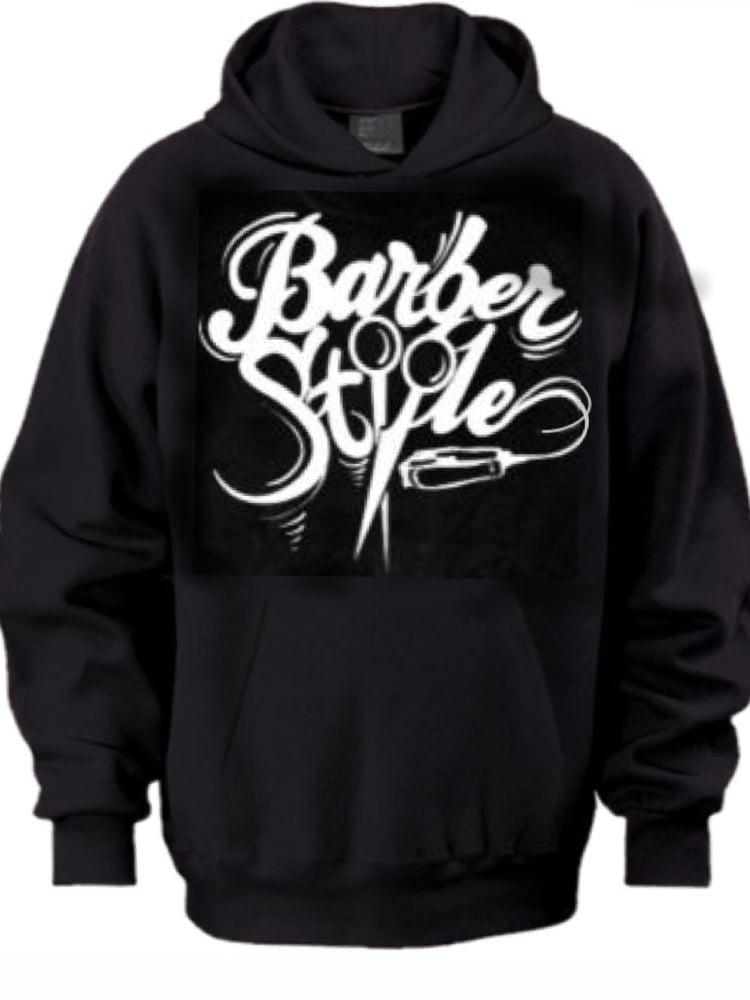 Image of Barberstyle Hoodie (Black Original Logo)