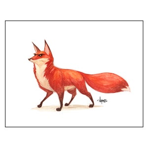 """Image of """"On The Watch"""" Red Fox Print"""