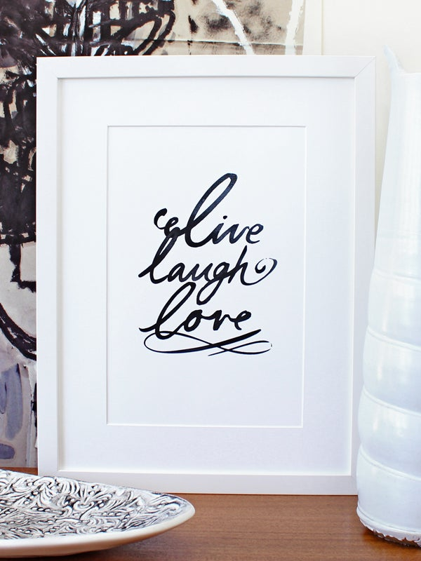 Image of Live laugh love A3 art prints