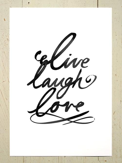 Image of Live laugh love A3 art prints