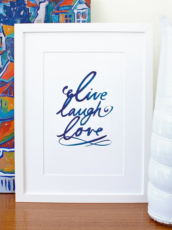 Image of Live laugh love A4 art prints