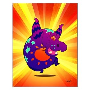 """Image of """"Are You Dancing Today?"""" Polychromatic Hippo Print"""
