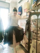 Image of 100% Double Gaze Cotton Double Layers Skirt/二重棉雙層不規則裙腳半截裙code:153