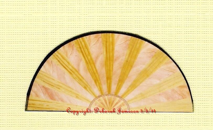 Image of Item No. 125.  Nautical Sunburst Veneering Half Circle