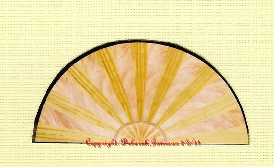 Image of Item No. 125.  Nautical Sunburst Veneering Half Circle