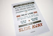 Image of Slide Away - Typographic Print