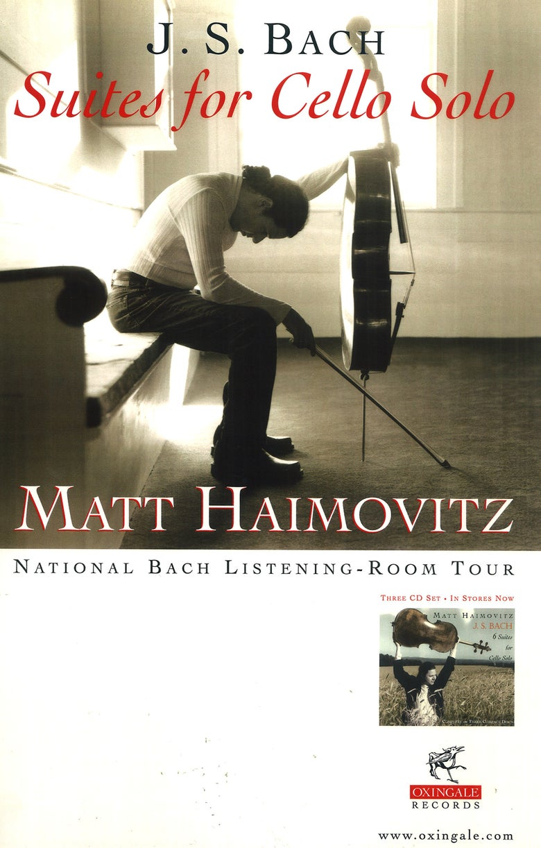 Image of Signed Tour Poster 'National Bach Listening-Room Tour'