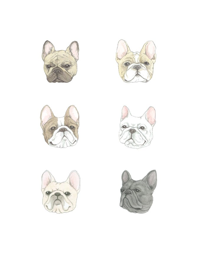 Image of Frenchies Print