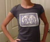 Image of Romantic Pansy Grey T-Shirt