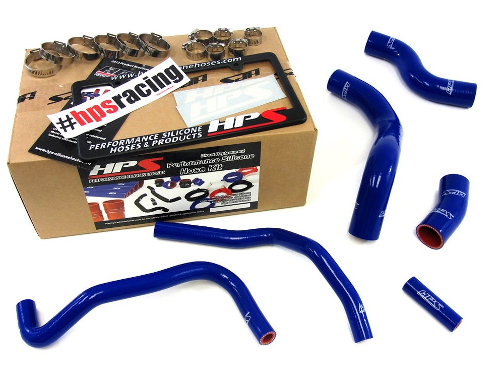 Image of BRZ HPS Blue High Temp Reinforced Silicone Radiator + Heater Hose Kit