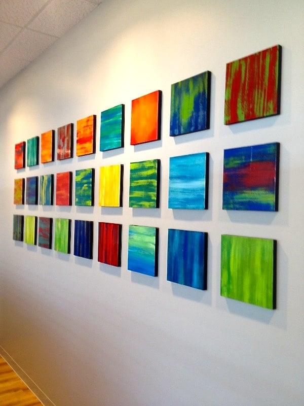 Large Abstract Original Painted Wood Wall Panels Wood Wall Art ...